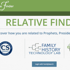 Relative Finder for finding your roots and relationships
