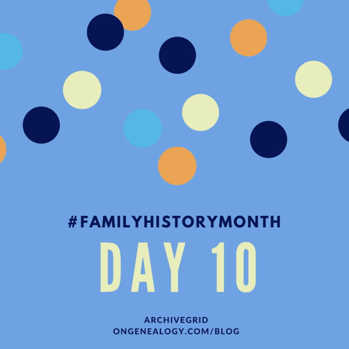 ArchiveGrid OnGenealogy Family History Month