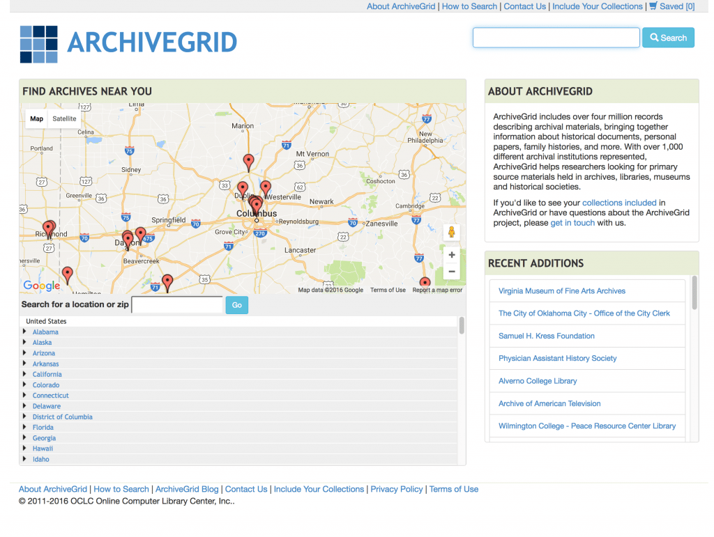 ArchiveGrid for Genealogy
