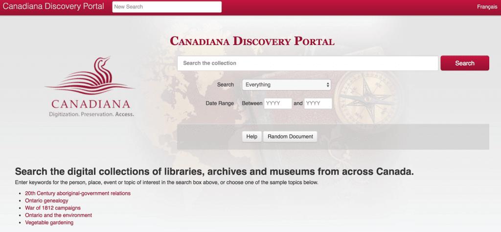 Canadiana Discovery Portal