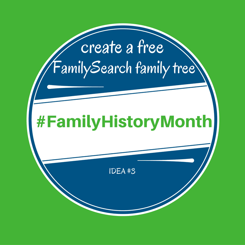 #familyhistorymonth free family tree