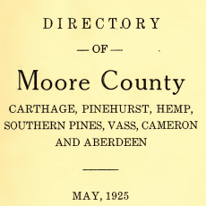 Moore County Directory
