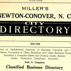 Newton-Conover City Directories