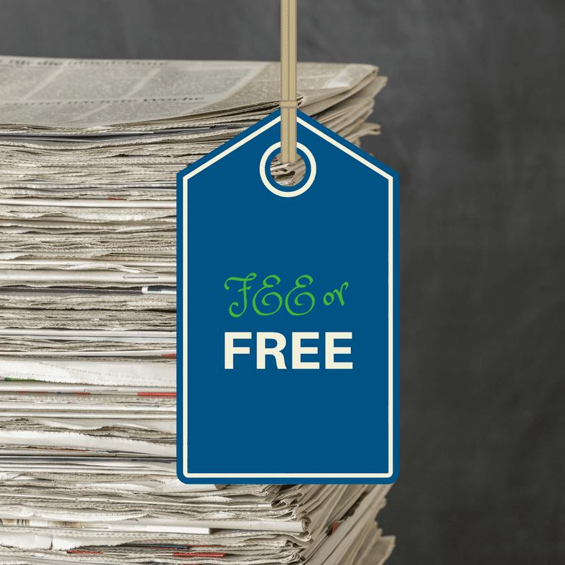 Fee or Free African American newspapers