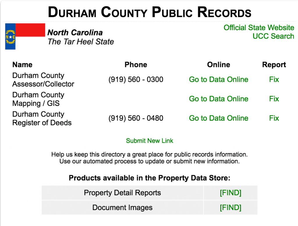Durham Property Record Search