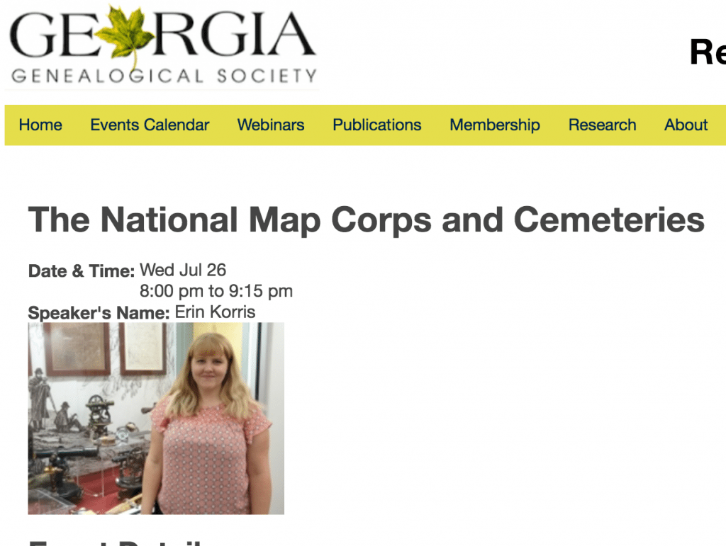 Georgia Genealogical Society free Webinar