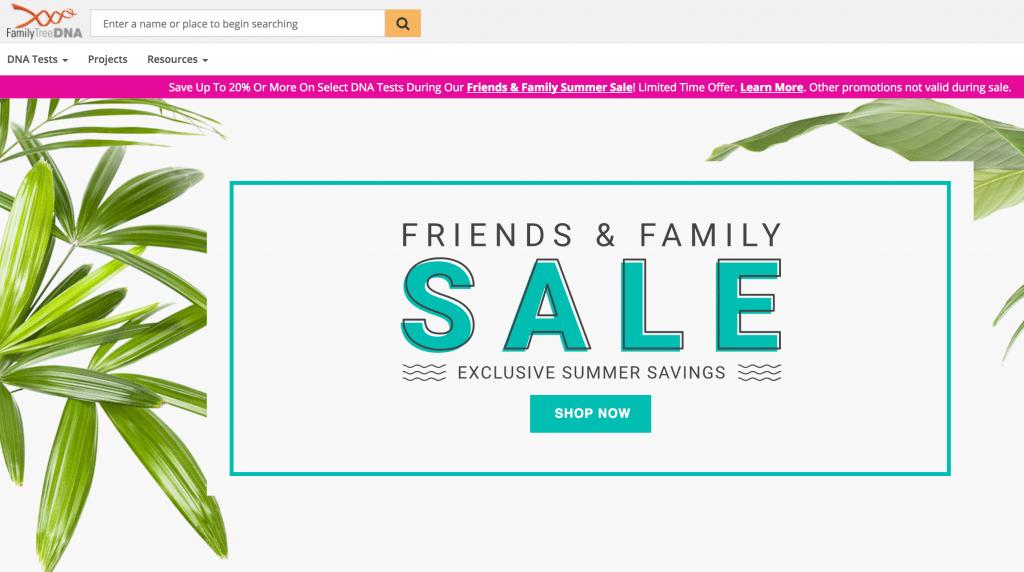 FamilyTreeDNA sale