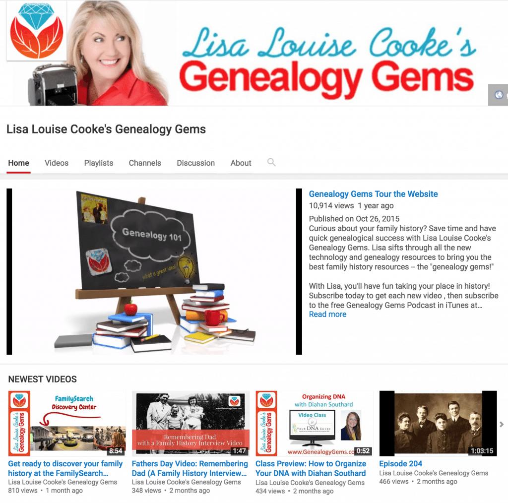 Lisa Louise Cooke's Genealogy Gems YouTube Channel