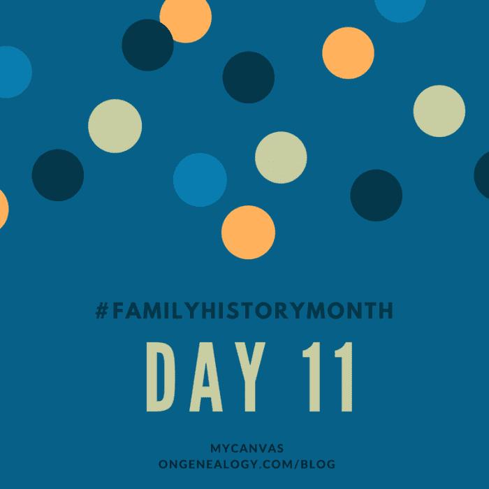 Family History Month MyCanvas OnGenealogy