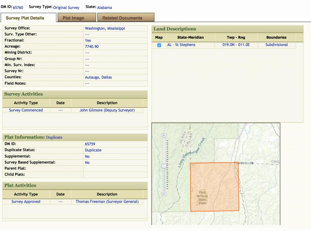 Land Survey closer up