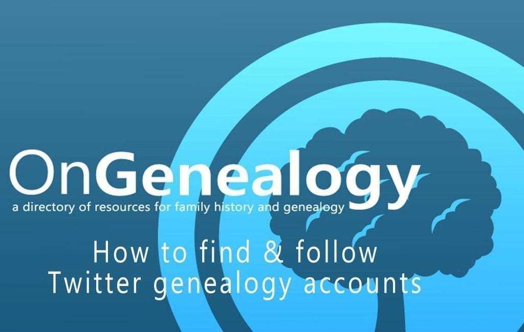 Find and Follow Genealogy Accounts on Twitter