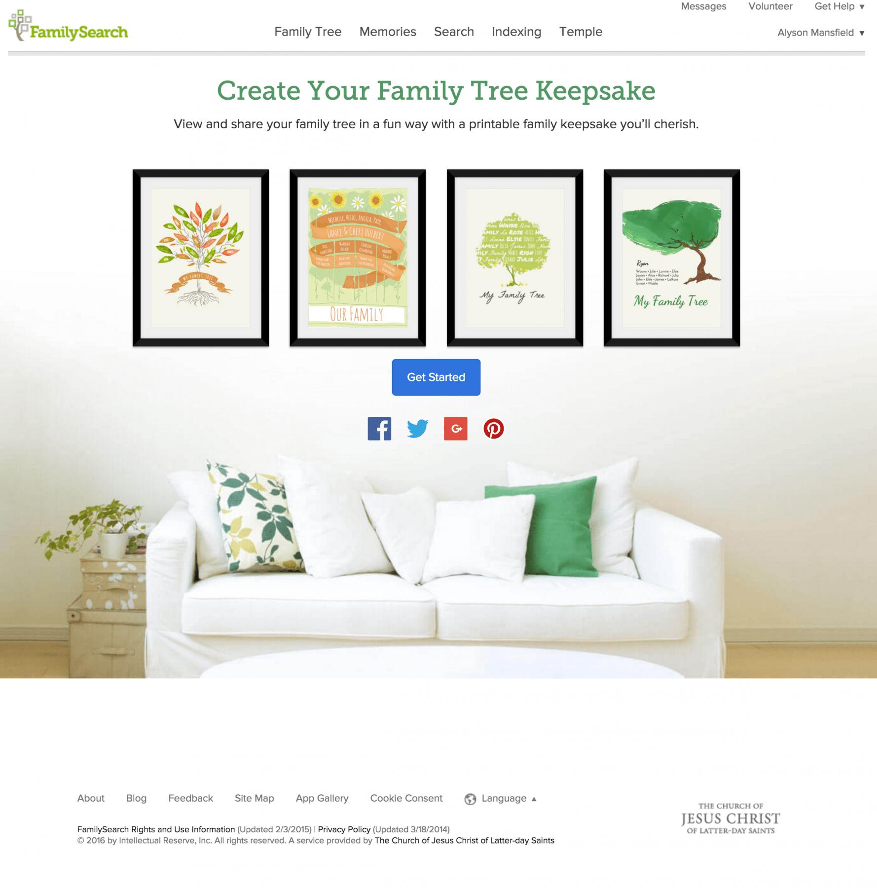 free family tree art at familysearchorg