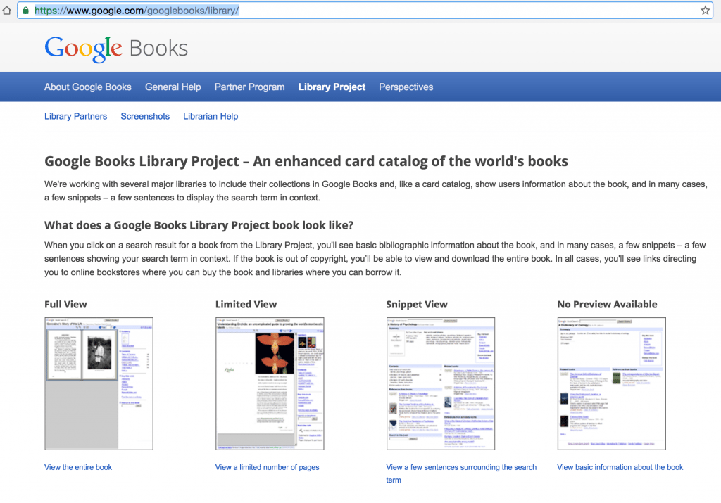 Google Books Library Project possible results