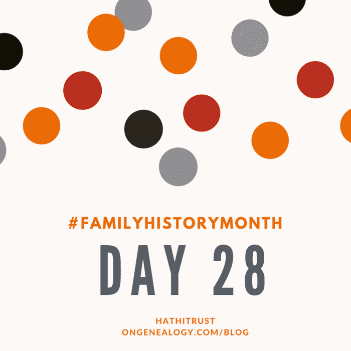 HathiTrust Family History Month