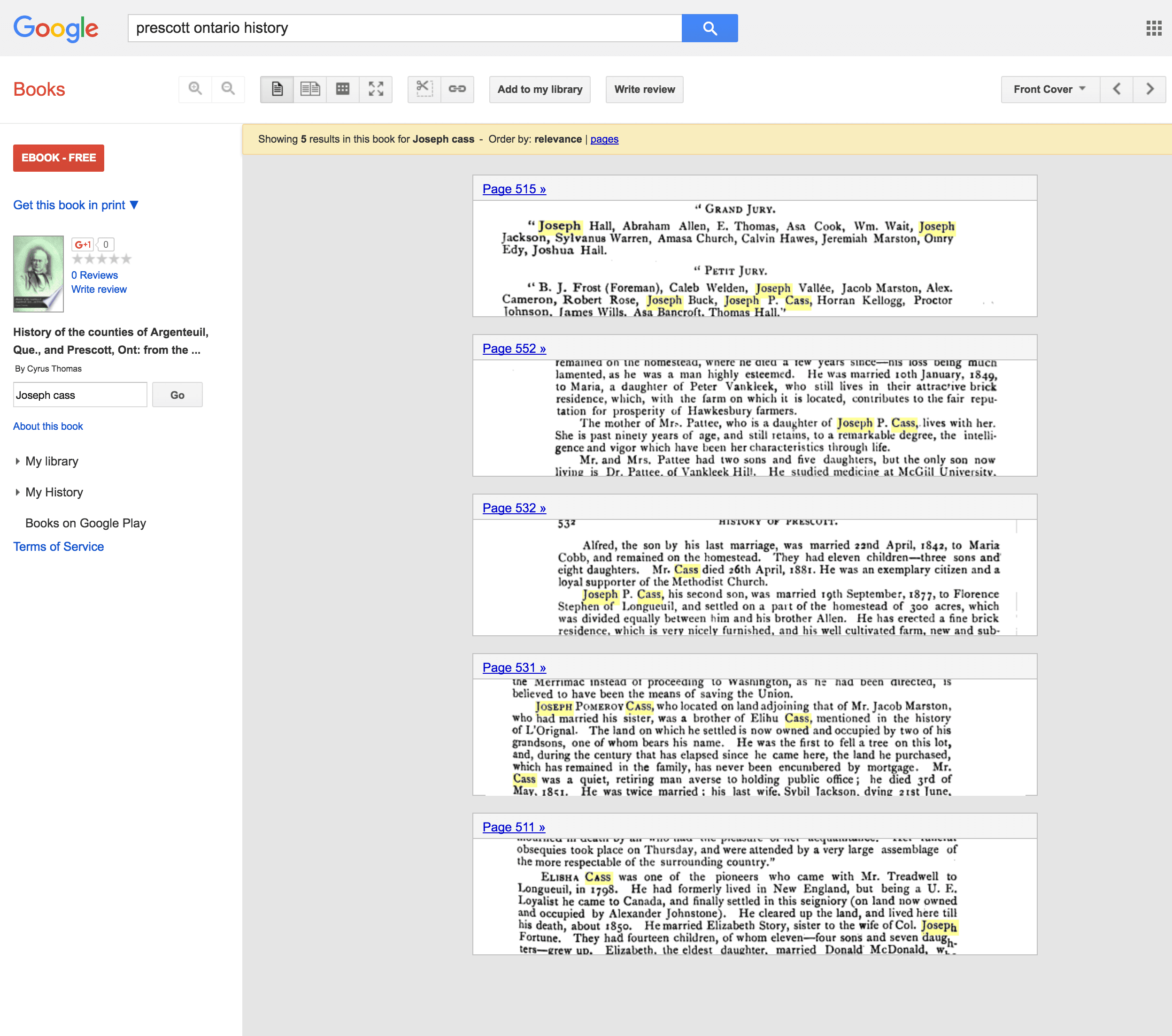 how to find page numbers on google books