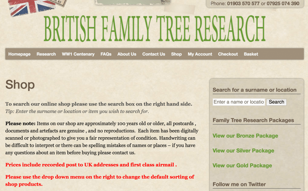 British Family Tree Research free heirloom searches online