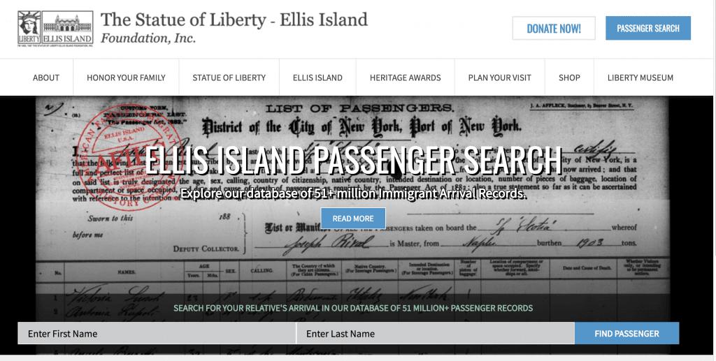 Ellis Island Genealogy Search