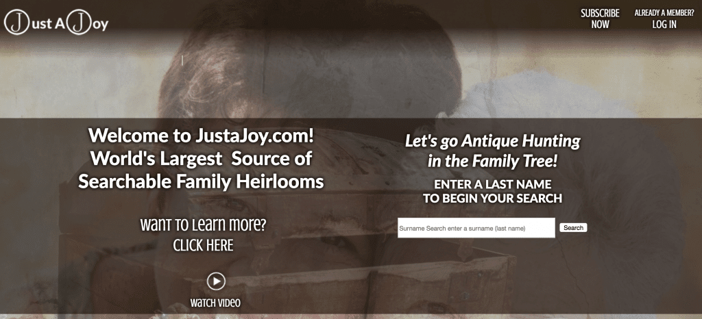 JustaJoy free heirloom searches online
