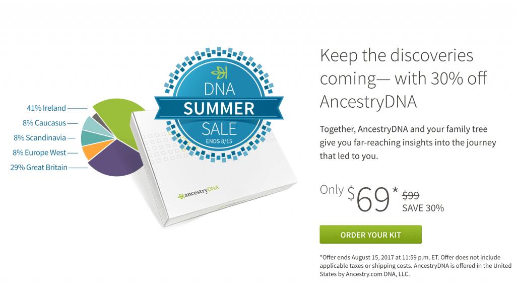 AncestryDNA sale