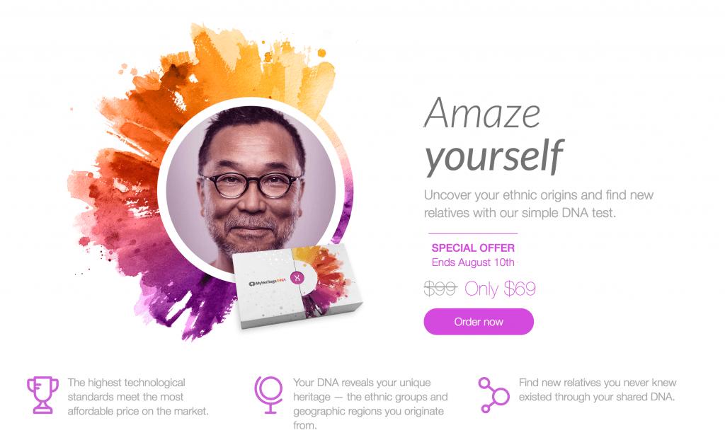 MyHeritageDNA sale
