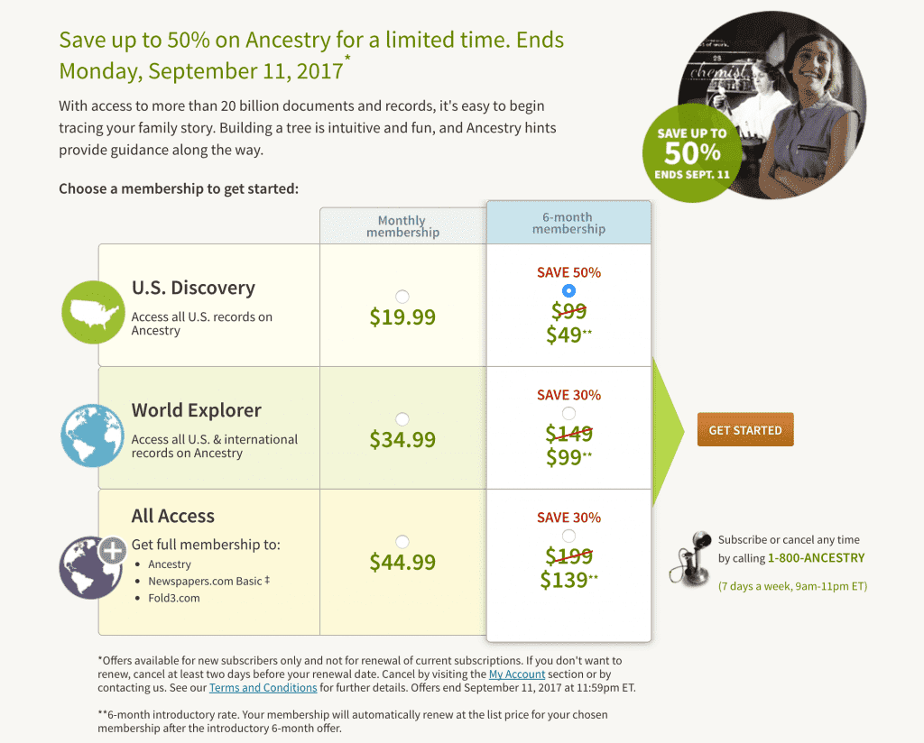 Ancestry 50 percent off sale