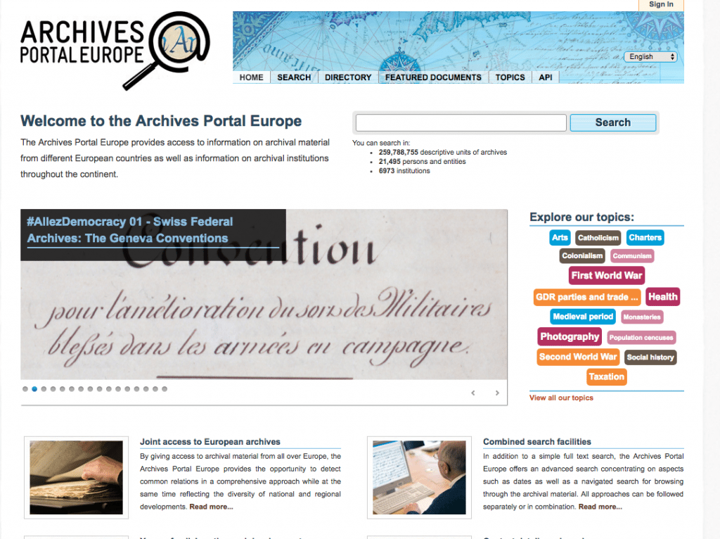 Archives Portal Europe for Genealogy OnGenealogy
