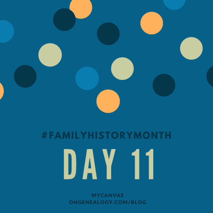 Family History Month MyCanvas OnGenealogy