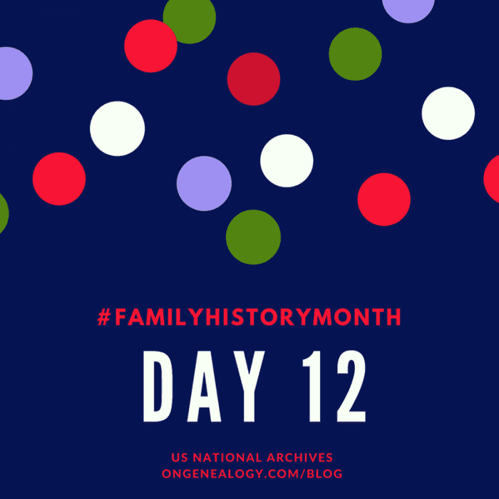 Family History Month NARA OnGenealogy