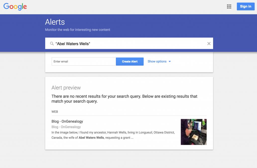 Google Alerts Query