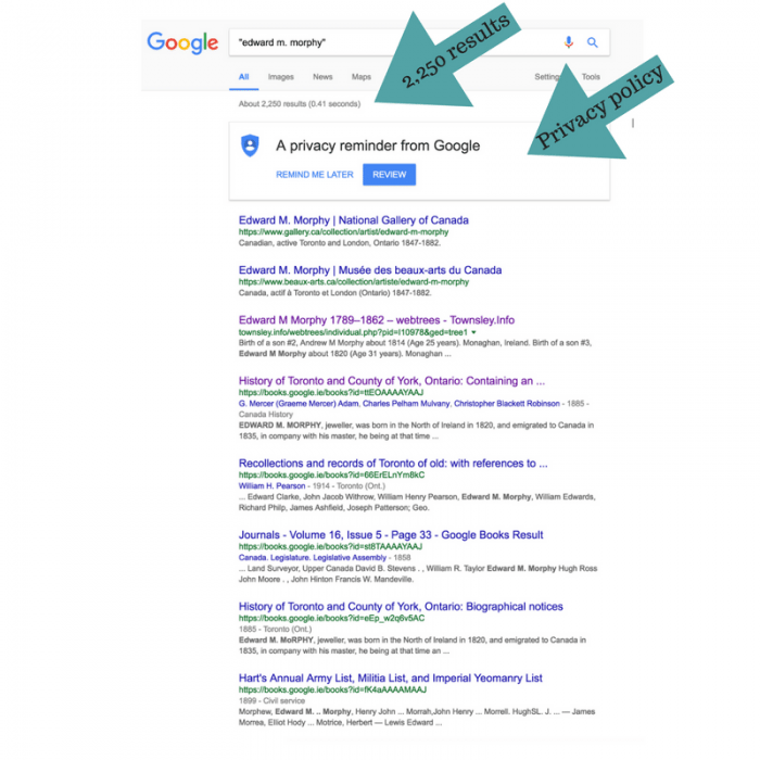 Google.ie results