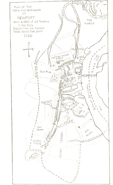 Plan of the Town and Borough of Newport, Wales at Europeana