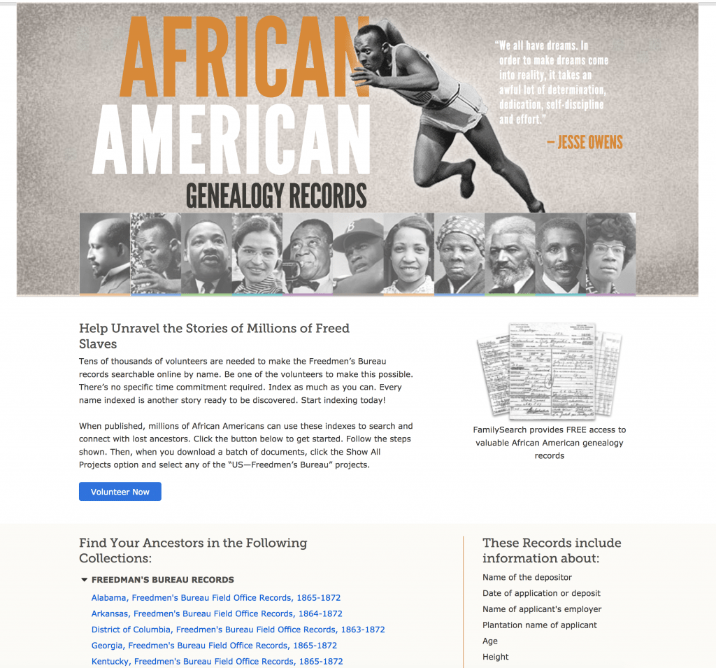 free African American Genealogy Records