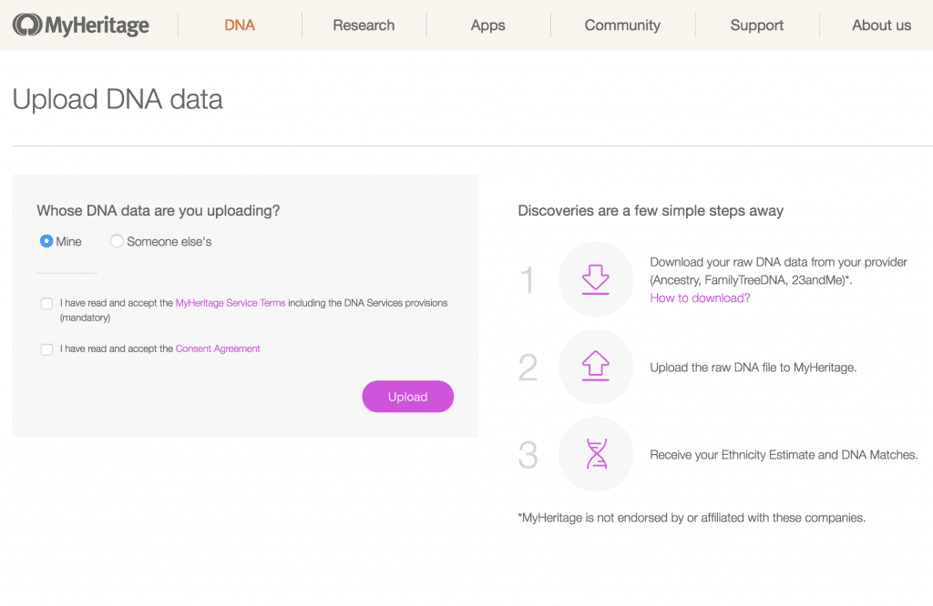 free MyHeritage DNA ethnicity estimate and DNA matches