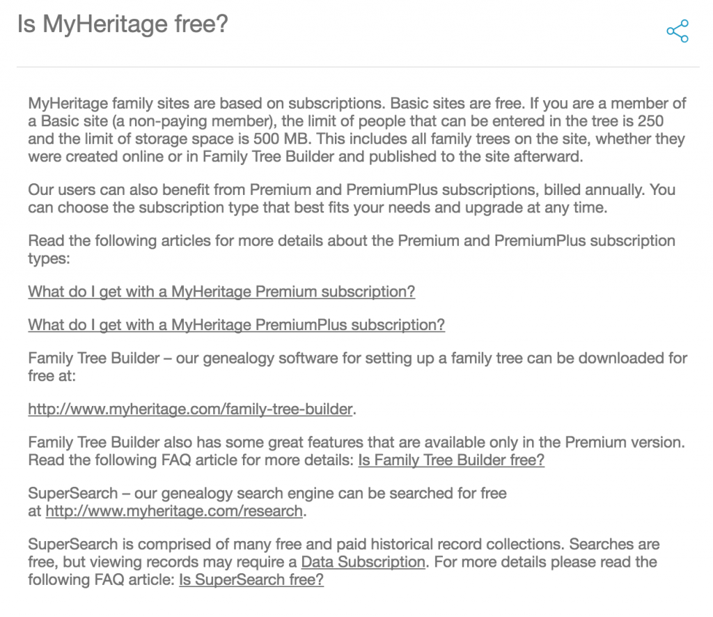 free MyHeritage offers